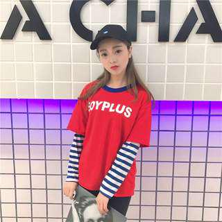 INSTOCK ulzzang fake two piece pullover