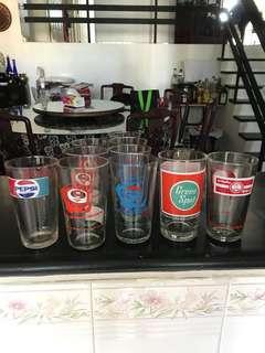 Soft drink glasses