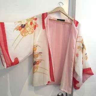 Chiffon Kimono Top with Pattern