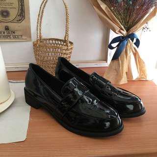 🚚 適合38號 漆皮包鞋 學生鞋 低跟鞋 平底鞋