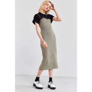 Urban outfitters straight-neck Midi dress