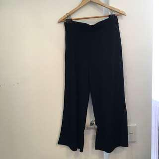 Black Cullotes with Ribbed Jersey Material
