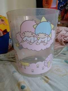 Sanrio Little Twins Star 透明膠垃圾桶