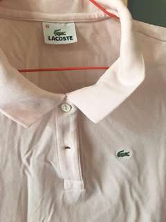 Lacoste polo shirt in soft pink