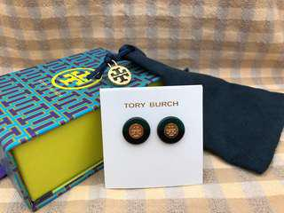 Tory Burch Resin Color-Block Stud Earrings