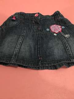 Ruffled Jeans/Denim Skirt by JSP