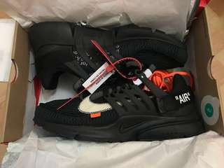 Nike x Off-White Presto Triple Black US11