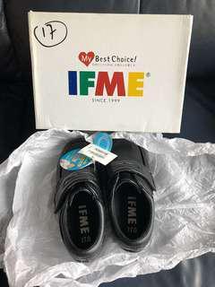 全新 IFME男童返學黑色皮鞋