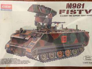 🚚 1/35 scale M981 FISTV tank model kit
