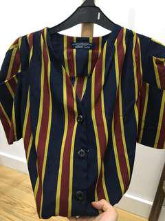 NEW Zoozy Stripe Vintage Top