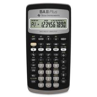 Texas Instruments BA II 2 Plus Financial Calculator