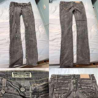 灰色牛仔長褲 可換物