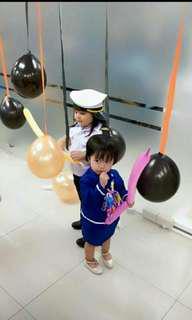 Pilot and Flight Attendant Costume