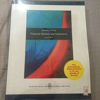Saunders / Cornett Financial Markets And Institutions 4th Ed