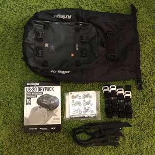 Kriega US-20 Waterproof Tailbag 10 years warranty
