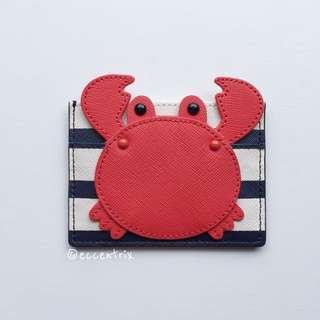 Kate Spade Shore Thing Crab Appliqué Card Holder