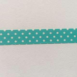 White Dots Green Ground QCR3 Washi Tape 15mm x 10m