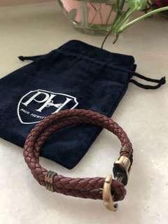 Paul Hewitt brown leather bracelet for sale!