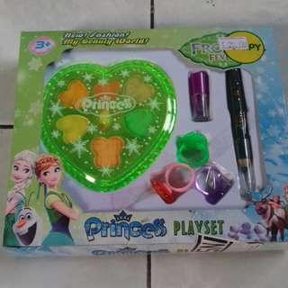 Play Set Make Up Anak²  Ada Lipstick,pensil Alis,acc 3 Cincin