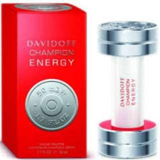 Davidoff Champion Energy Men Eau De Toilette Spray (including shipping)