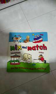 Mix n match activities books for toddler