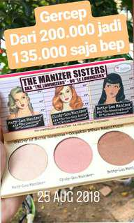 SALE THE MANIZER SISTERS HIGHLIGHTER AND BRONZER PALLETE