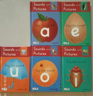 🚚 (Ladybird) Set of 5, Sounds and Pictures, Say the Sound