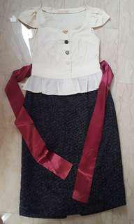 Fornarina cap sleeves dress