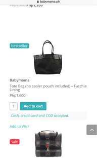 Babymama breastpump bags