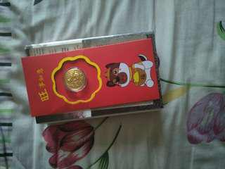 Prosperity coin 916 gold