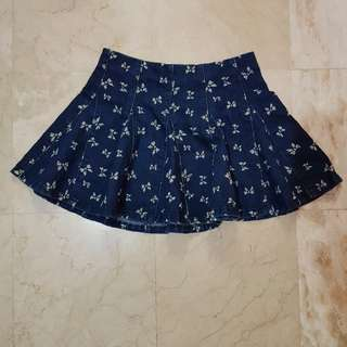 Cute Ribbon Print Skirt