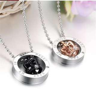 Couple SET a pair Necklace high quality stainless (instock)Promotion now🔥🔥Hot SALE 🔥🔥