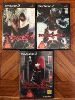 PS2遊戲DevilMayCry123集全套共3隻全部100元