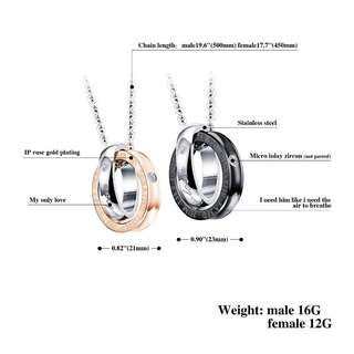 Couple SET a pair Necklace high quality stainless (instock)Promotion now🔥🔥Hot SALE 🔥🔥🔥