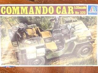🚚 1/35 scale Commando car model kit