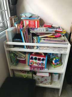 IKEA baby changing station (used as book shelf)