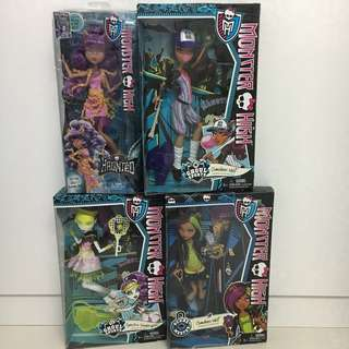 Brand new Monster High Ghoul dolls