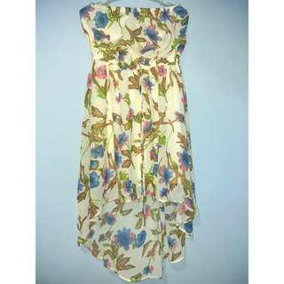 Manito USA Floral High Low Tube Dress