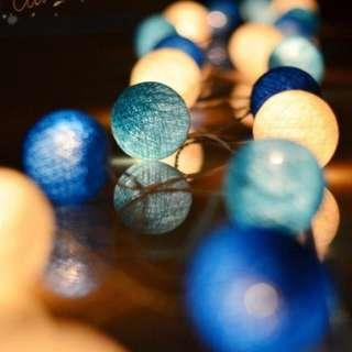 🚚 【SA】🔥現貨快速出貨🔥溫馨浪漫彩燈♡泰國LED棉線球串燈♡USB三公尺20燈♡