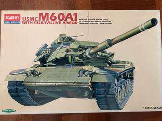 🚚 1/35 scale USMC M60A1 with rise passive armor model kit