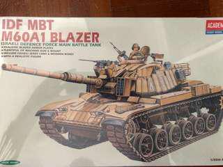 🚚 1/35 scale IDF MBT M60A1 Blazer tank model kit