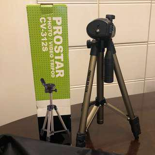 🚚 日本🇯🇵PROSTAR CV-312S 輕型腳架 相機 單眼相機 鋁質金屬腳架 全新未用過