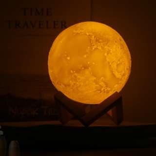 🚚 【SA】🔥現貨快速出貨🔥USB充電LED月球燈♡床頭小夜燈♡雙色燈溫和不刺眼