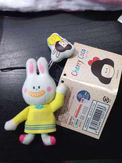 Cherry coco 白色 兔仔公仔 扣繩 掛繩 電話繩 裝飾