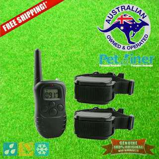 Petrainer PET998DR-2 Remote Dog Training Collar with Shock & Vibration for 2 Dogs
