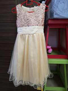 Flower girl dress champagne colour