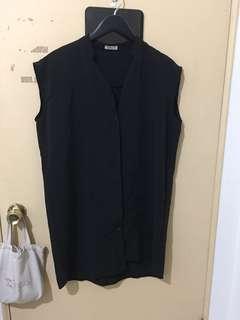 🚚 黑色襯衫洋裝