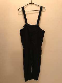 🚚 黑色吊帶褲