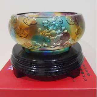 Four mythical beast wealth fortune pot 古法琉璃四文神聚宝盆
