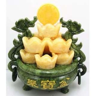 Xiuyan Jade Fortune Pot/ 岫岩玉聚宝盆